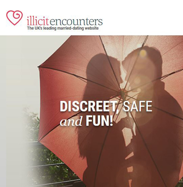 Screenshot of the Illicit Encounters homepage