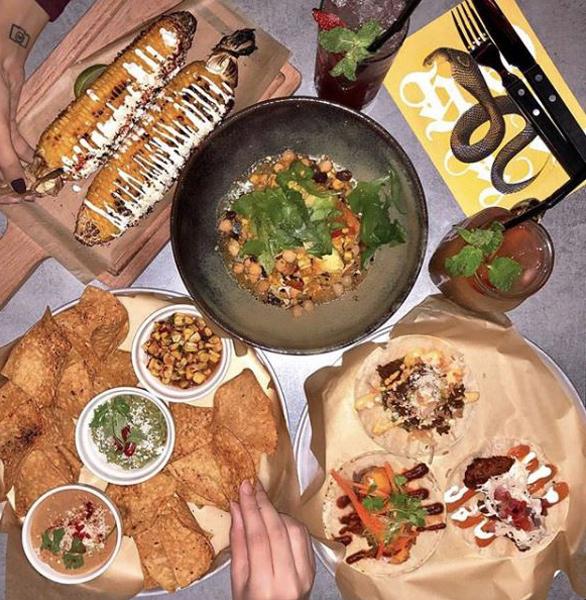 Photo of a meal at La Carnita