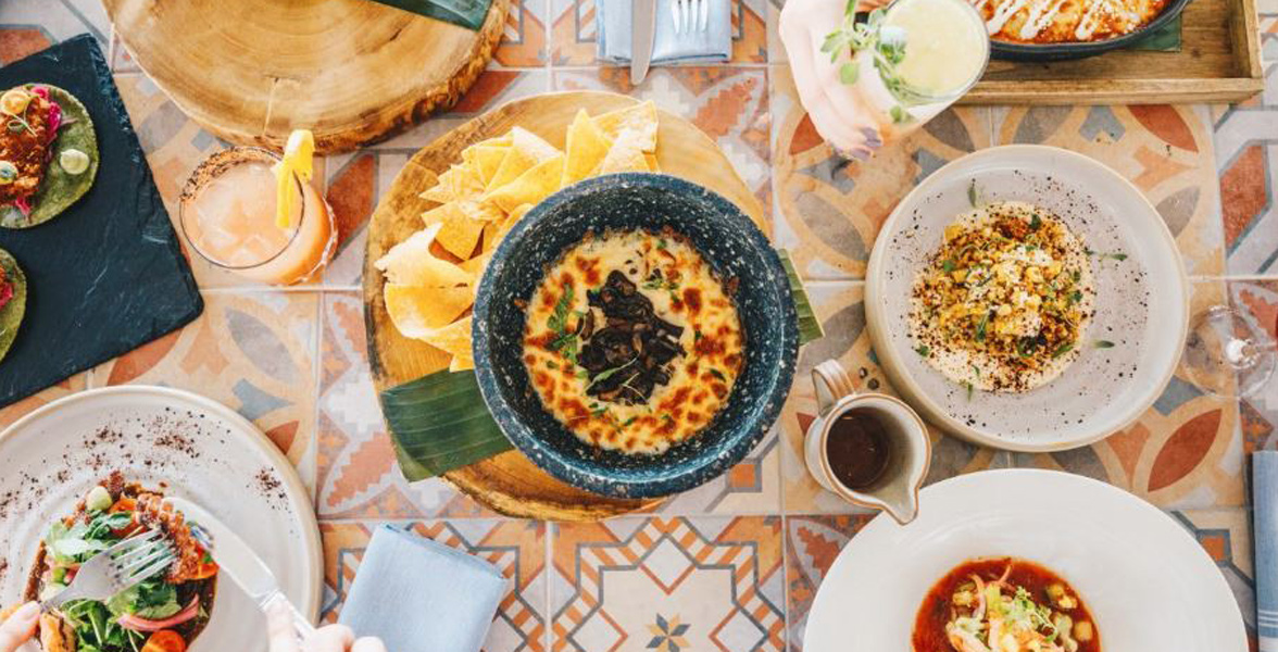 Photo of Mexican dishes served at Diez Y Seis