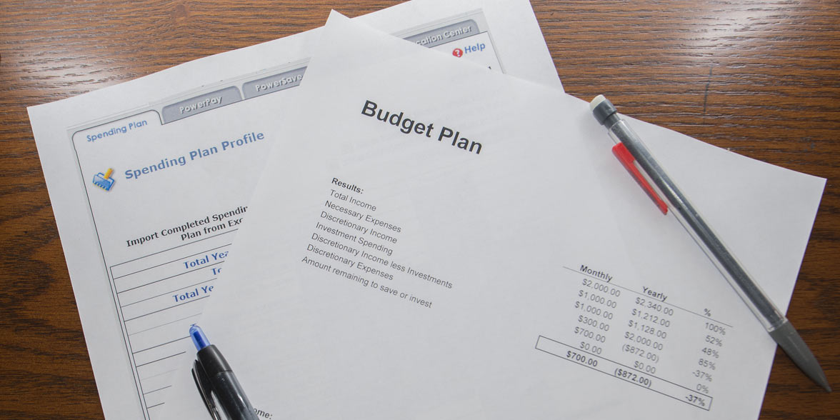 Photo of a budgeting sheet