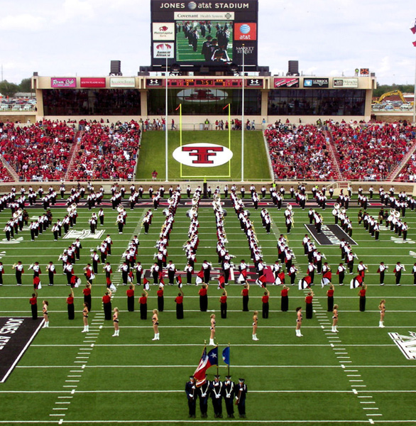 Photo of a Texas Tech football game