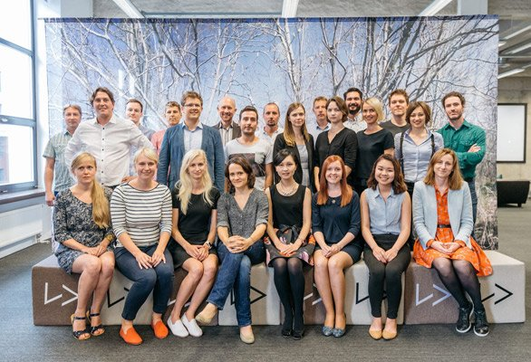 Photo of the Lingvist team