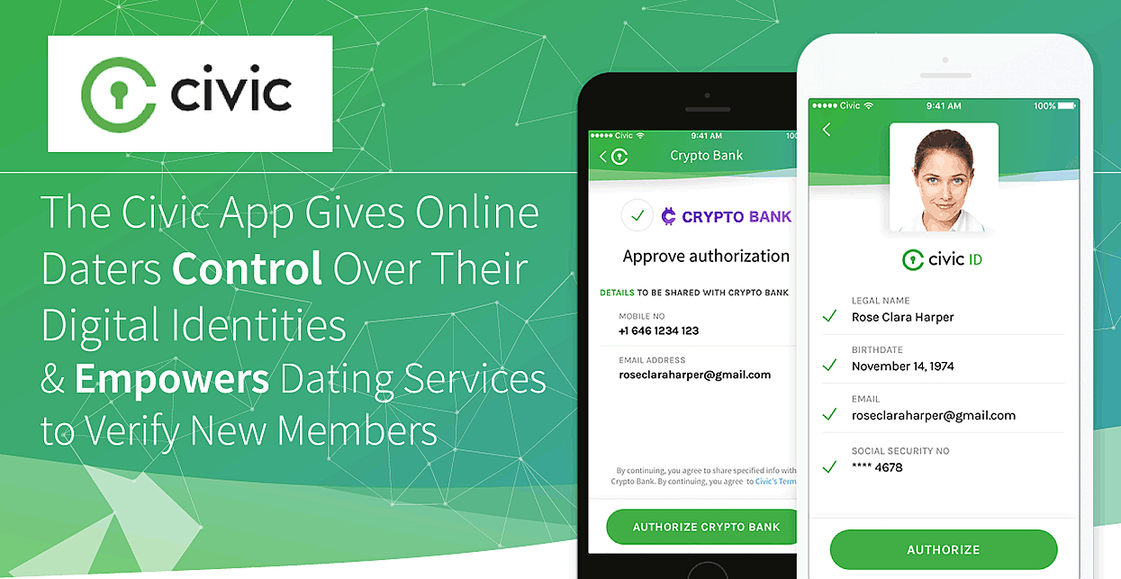 The Civic App Can Give Online Daters Control Over Their Digital Identities & Could Empower Dating Services to Verify New Members