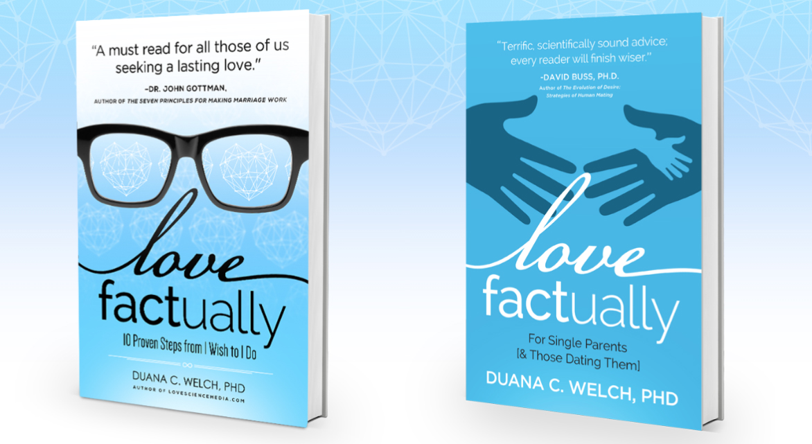 Graphic of both Love Factually books
