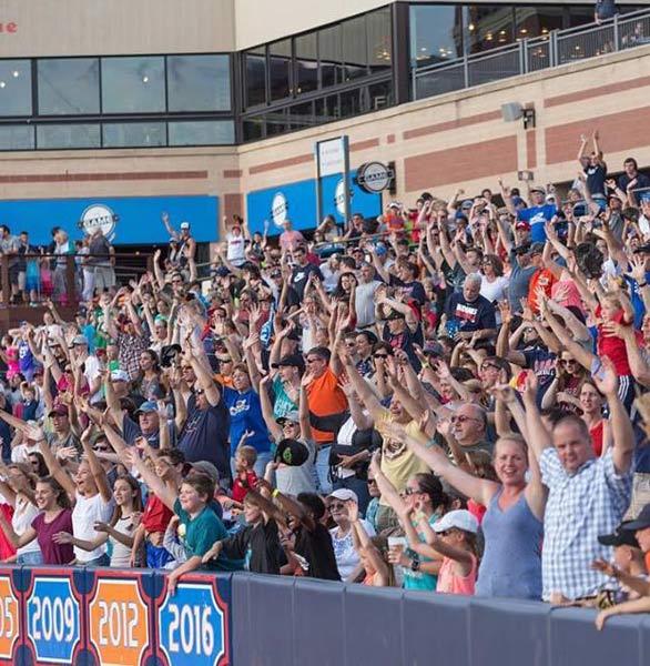 Photo of Akron RubberDucks fans
