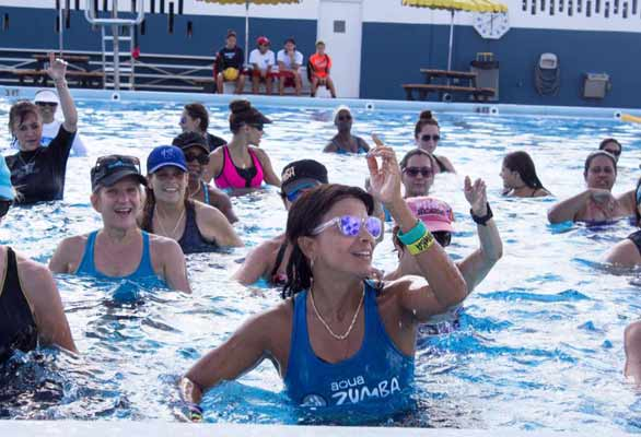 Photo of a water exercise class