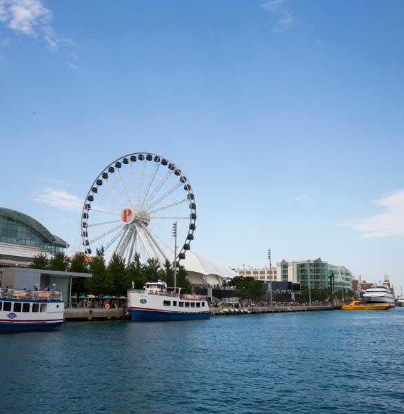 Photo of Navy Pier from the water