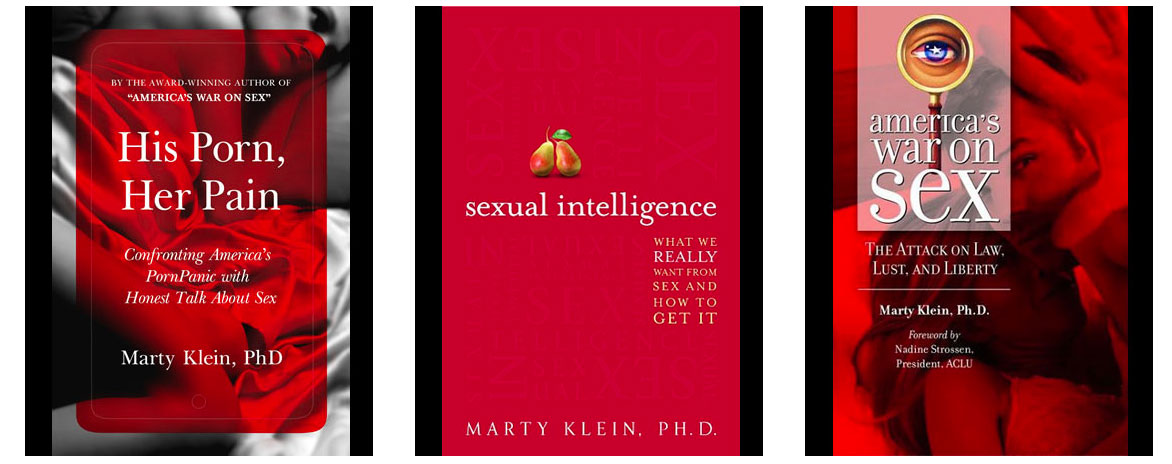 Screenshot of Dr. Marty Klein book covers