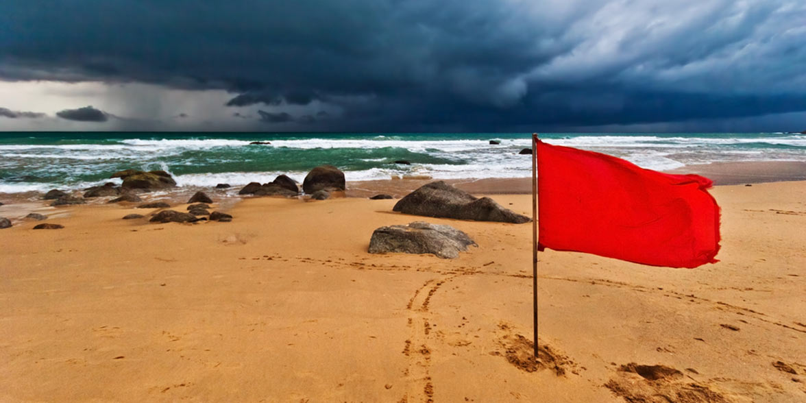 Photo of red flags