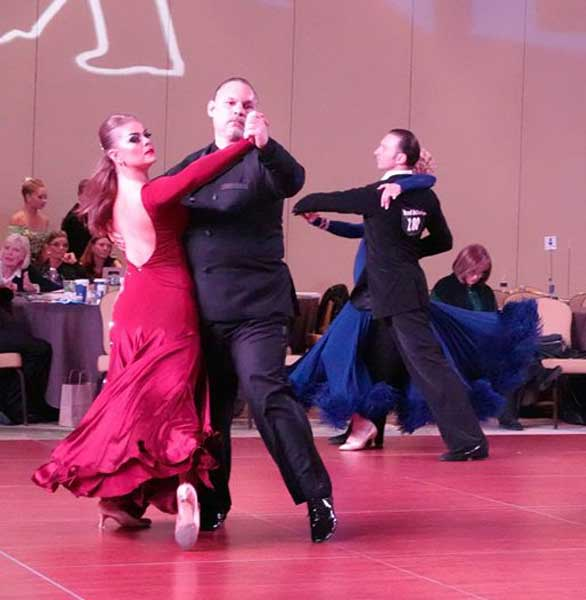 Photo of a Fred Astaire Dance Studios competition