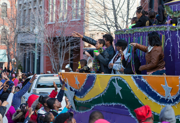 Photo of a parade in Shreveport
