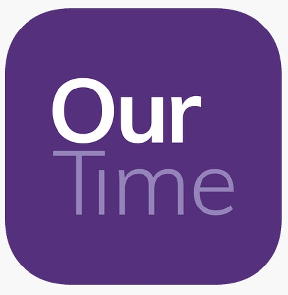 The OurTime logo