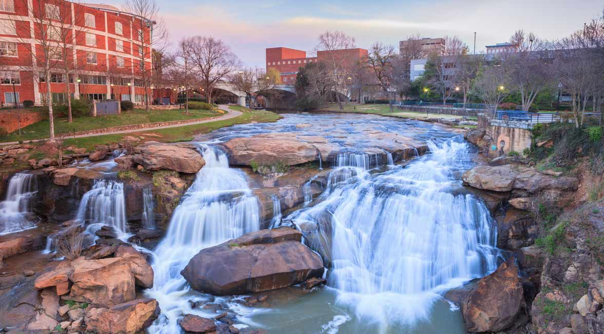 Photo of Falls Park in Greenville South Carolina