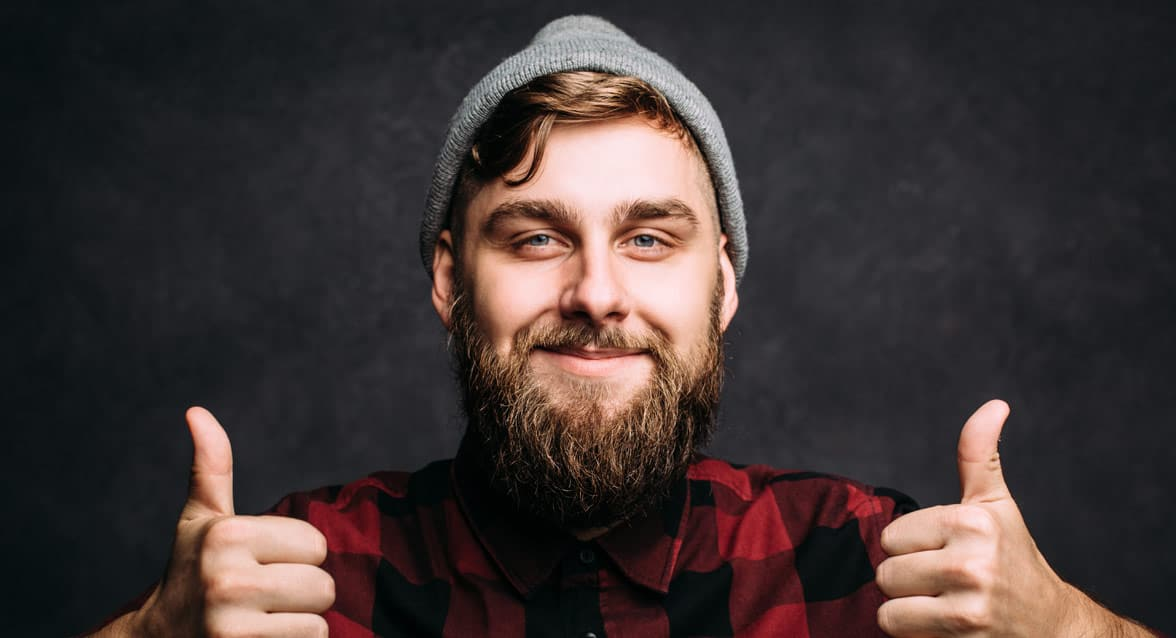 Photo of a man doing a thumbs up