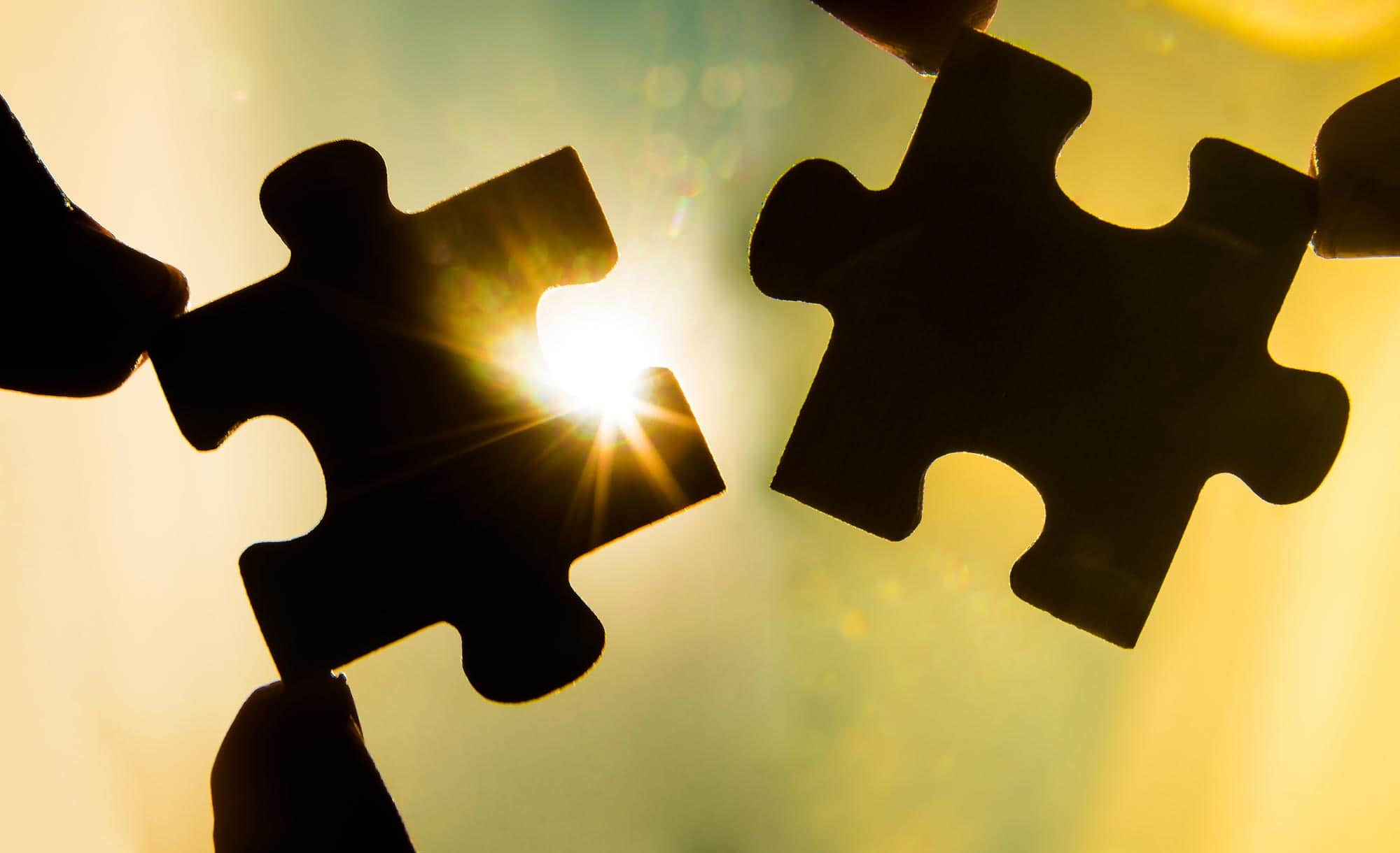 Photo of two puzzle pieces