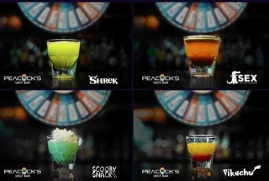 Peacocks Shot Bar