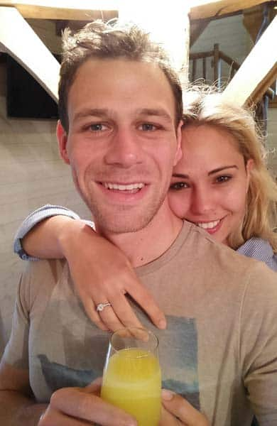 Photo of engaged couple Jon and Hayley