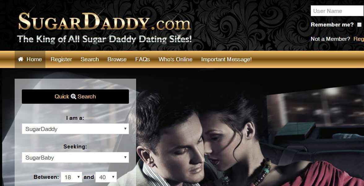 Screenshot of SugarDaddy.com