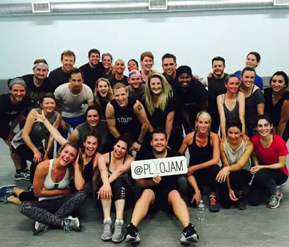 """Photo of the cast of """"The Late Late Show"""" at PlyoJam"""