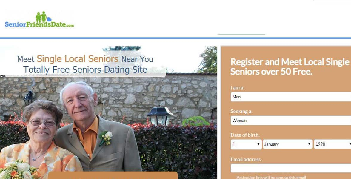 Screenshot of SeniorFriendsDate.com