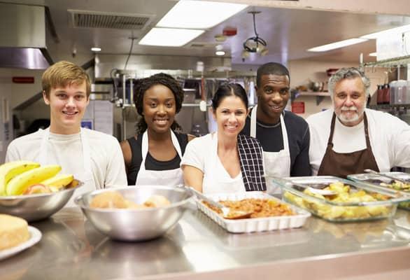 Photo of soup kitchen volunteers