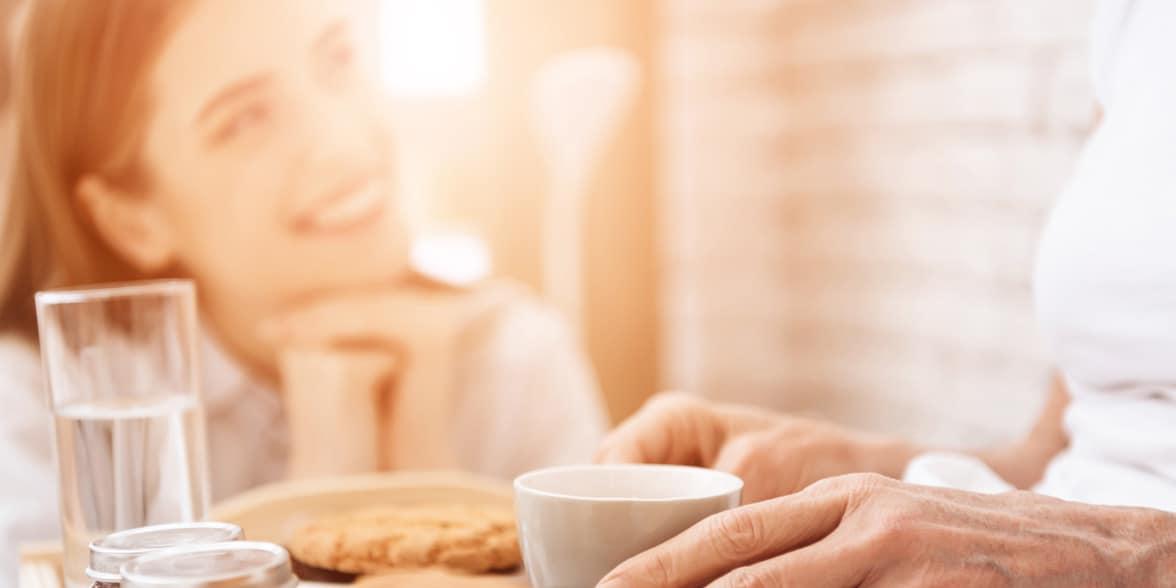 Photo of breakfast in bed