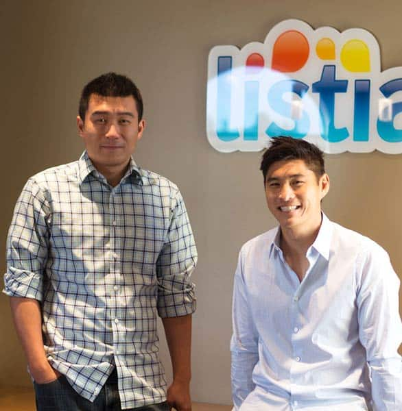 Photo of Listia Co-Founders Gee Chuang and James Fong