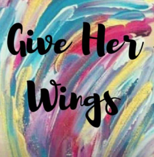 The Give Her Wings Academy logo