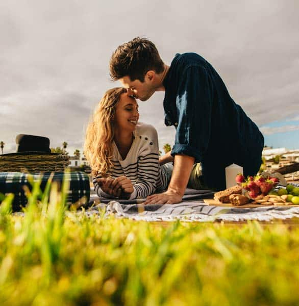 Photo of a picnic date