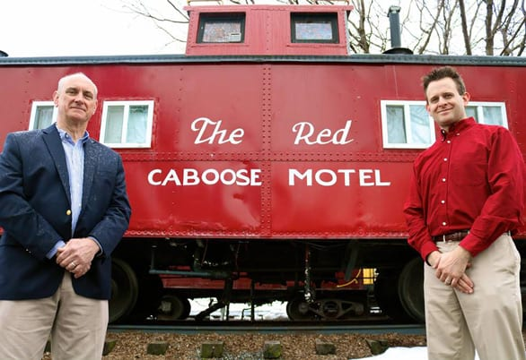 Photo of The Red Caboose owners Todd and Tyler Prickett