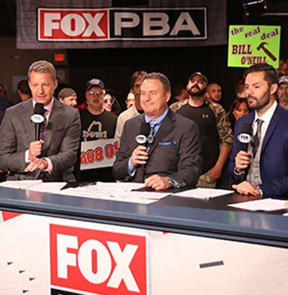 Photo of Fox sports broadcasters at a PBA event