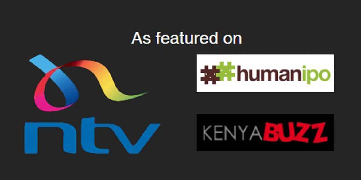 Screenshot of DateMeKenya's press logos