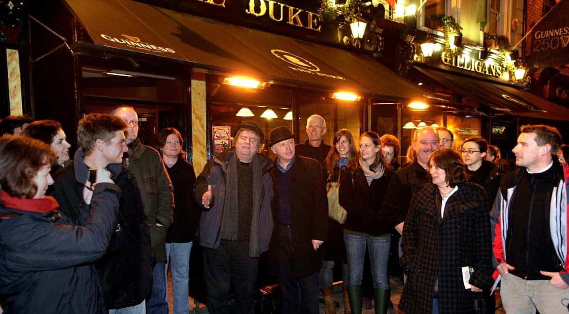 Photo of a tour starting outside The Duke Pub in Dublin