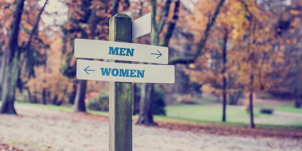 Photo of a men/women sign