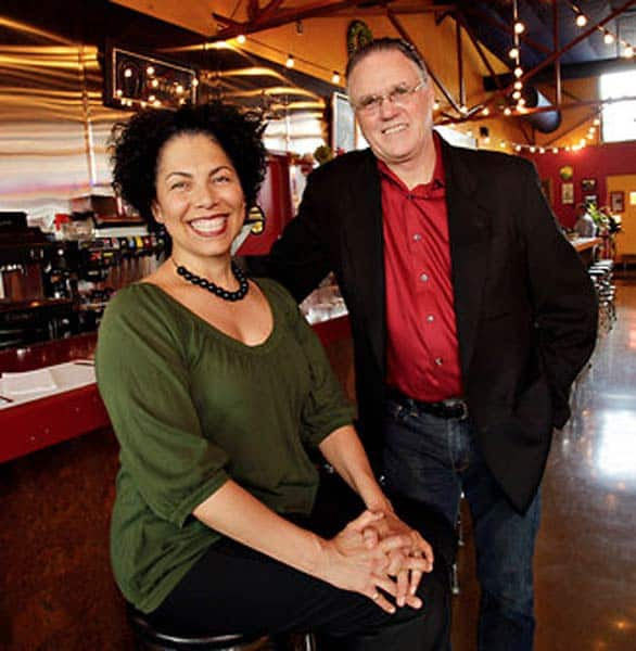 Photo of Red Iguana owners Lucy Cardenas and Bill Coker