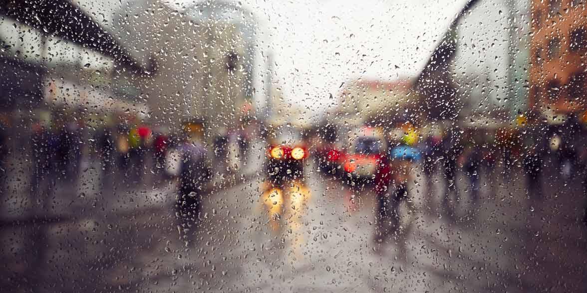 Photo of a rainy day