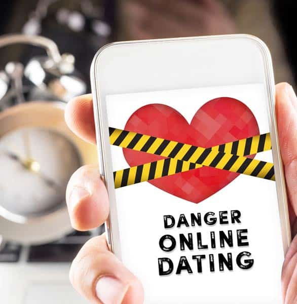 Photo of online dating dangers