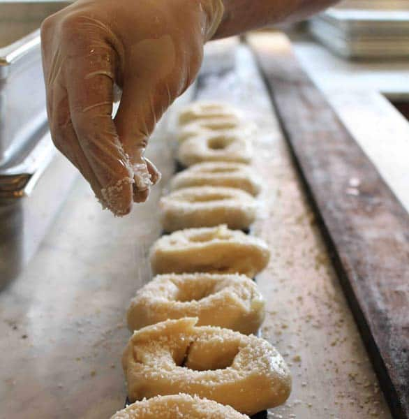 Photo of Black Seed's bagel-making process