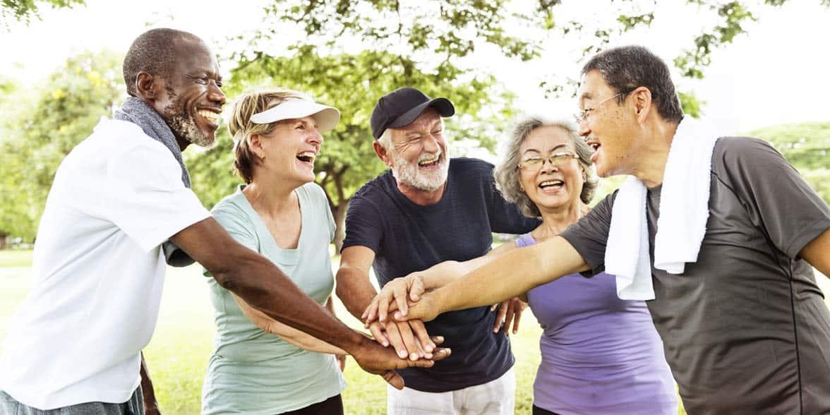 Photo of seniors exercising