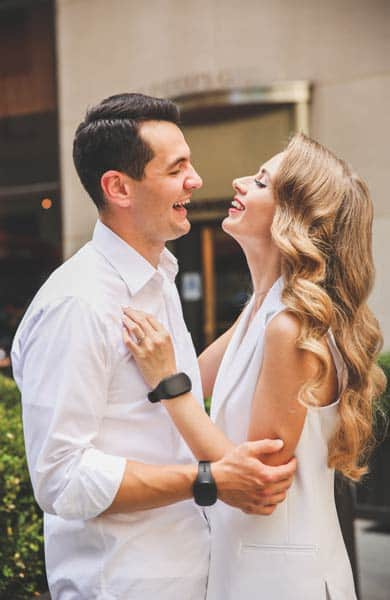 Photo of a couple wearing GoBe2 bands