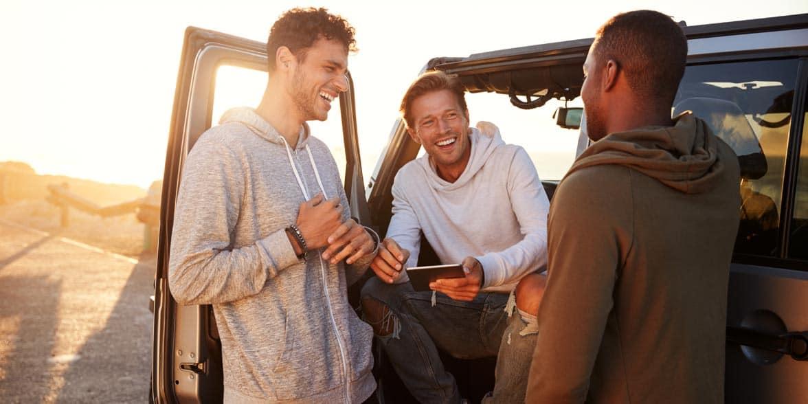 Photo of male friends