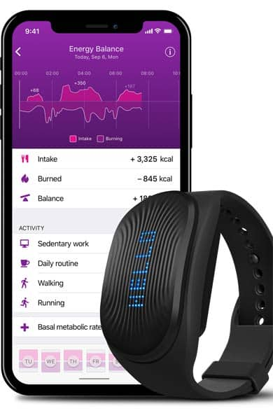 Photo of the GoBe and HEALBE app