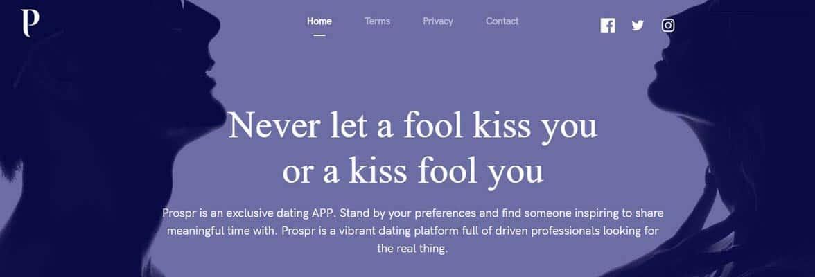 Screenshot from Prospr