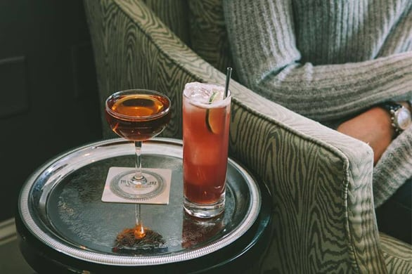 Photo of two cocktails from The Hawthorne