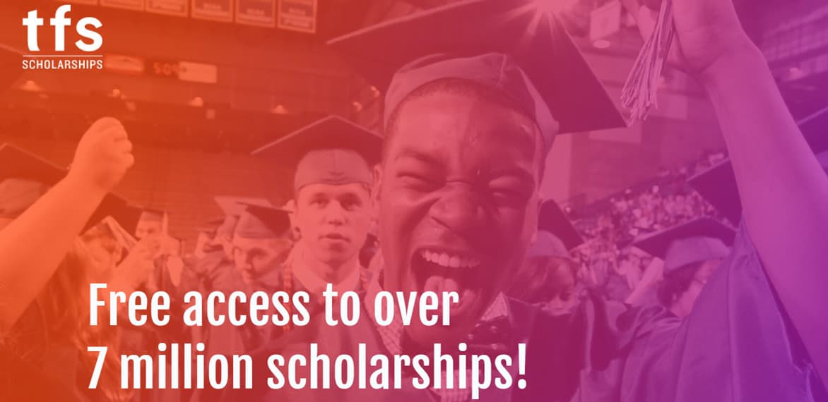 Screenshot of TFS Scholarships website