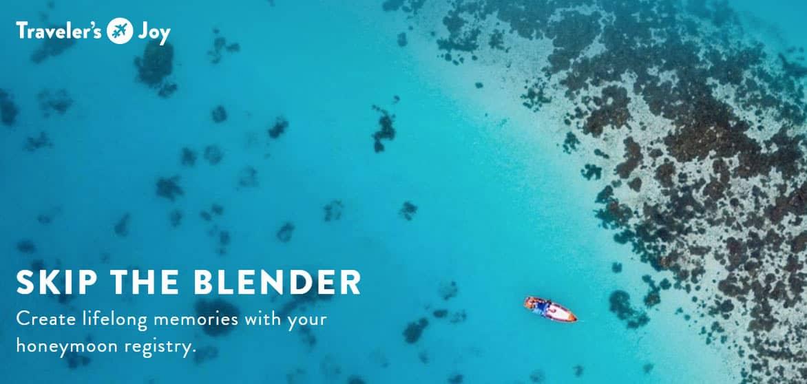 Screenshot of Traveler's Joy homepage