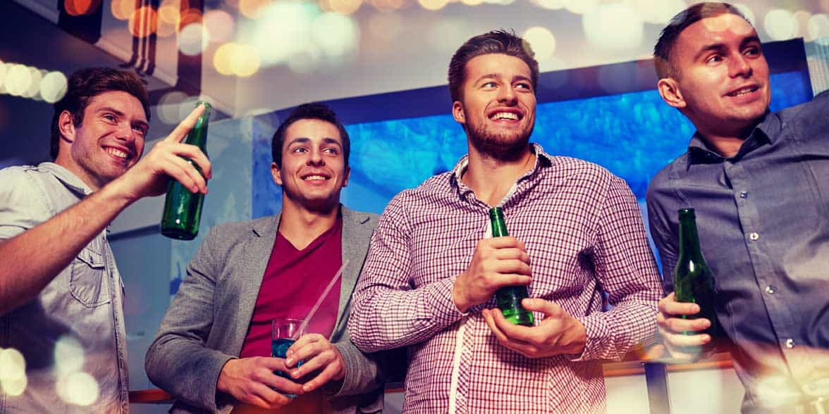 Photo of men at a party