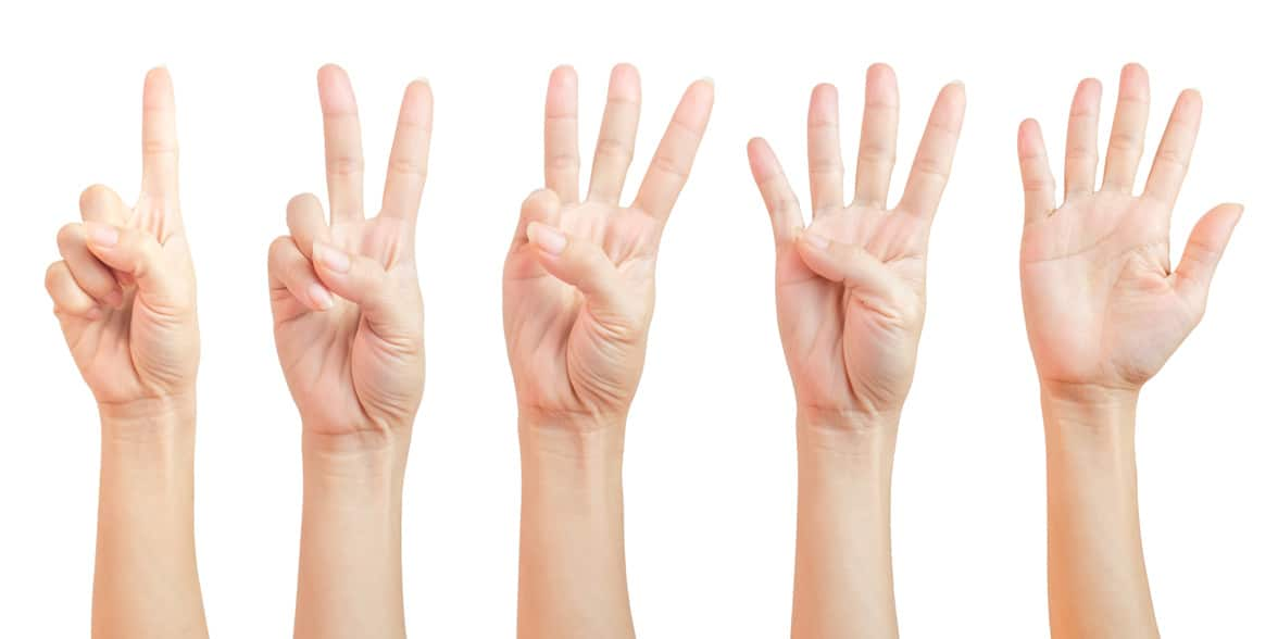 Photo of counting fingers