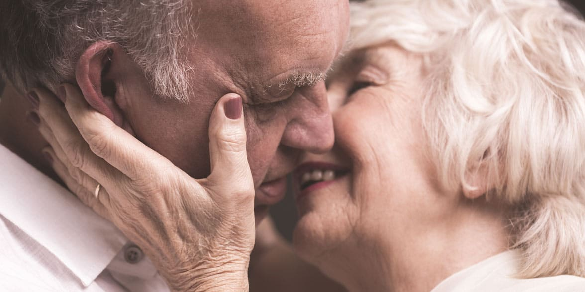Photo of couple kissing