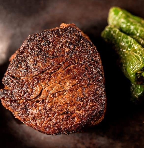 Photo of a RingSide Steakhouse steak